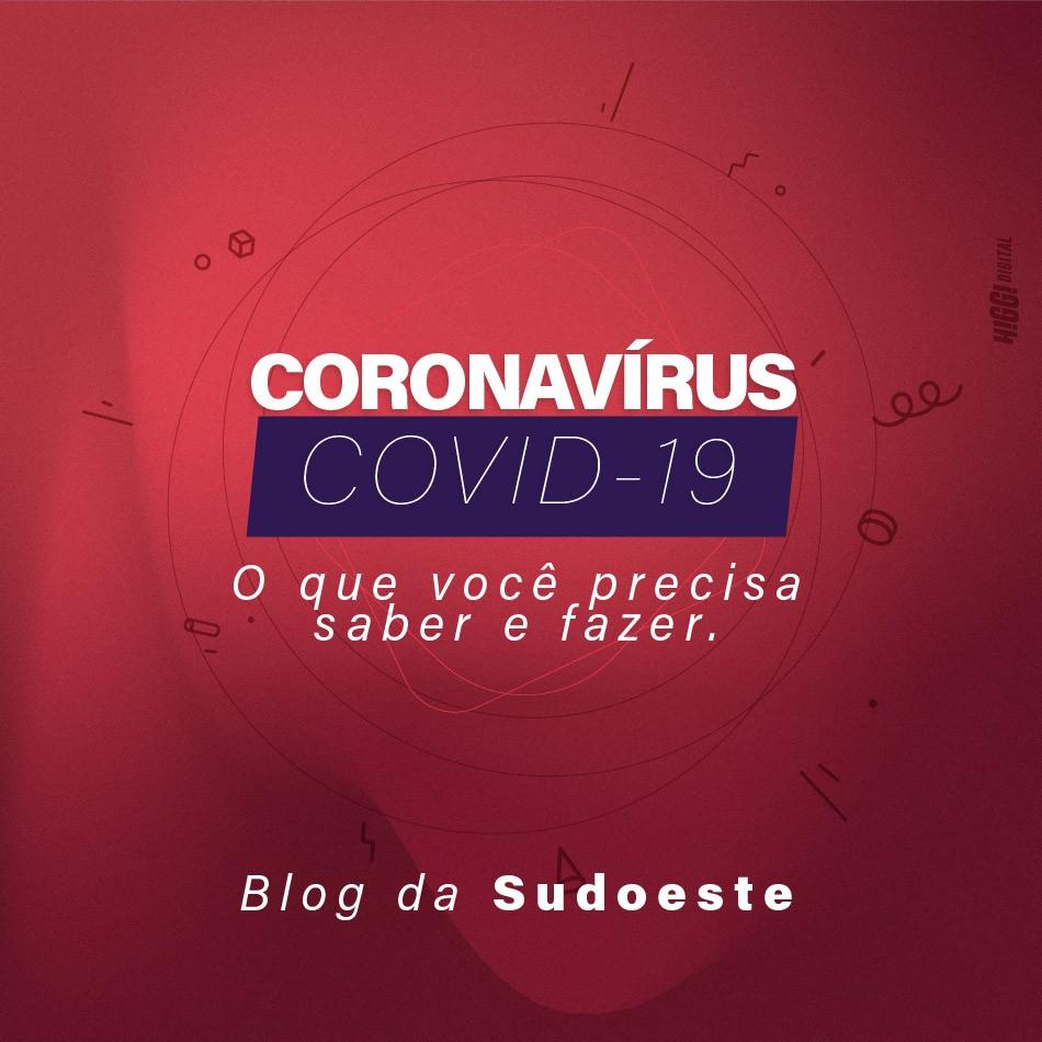 Arte de capa para o blog sobre o Coronavírus COVID-19