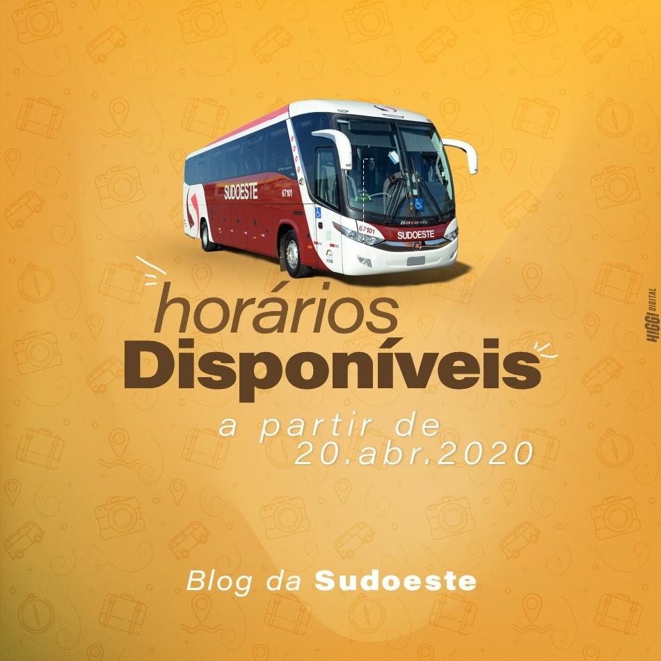 Horários de ônibus disponíveis